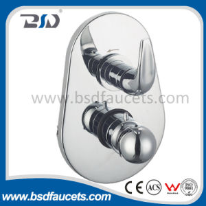 Concealed Thermostatic Shower Valve with Pear Shape Plate Lever Handle pictures & photos