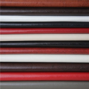 Ice Breaking Price PVC Faux Leather Fabric for Furniture Upholstery (138#) pictures & photos