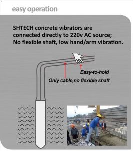1.2kw High Frequency Concrete Vibrator with 12000 T/Min pictures & photos