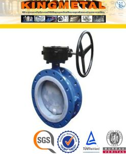 Stainless Steel Worm Actuated Wafer Lining Butterfly Valve Price pictures & photos