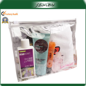 Heat Sealed Waterproof Cheap Promotion Cosmetic Bag with Locker pictures & photos