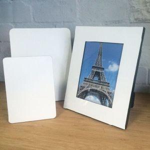 "Dye Sublimation White Blanks Wood MDF 8X10"" Photo Frame for Heat Press"