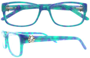 Italian Design Women Acetate Optical Frame Eyeglass with Ce Certificate pictures & photos