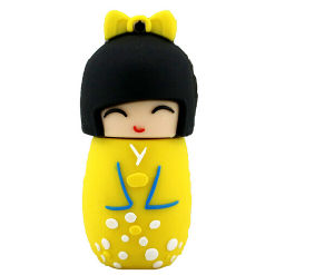 USB Flash Drive Memory Stick Cartoon Japanese Doll Model 64GB USB 2.0 Disk pictures & photos