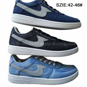 Latest Low Price Men′s Injection Jean Shoes Skate Shoes (MP16721-13) pictures & photos
