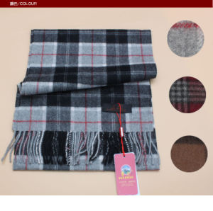 Yak Wool Lattice Scarf/ Cashmere Garment/ Camel Wool Knitwear pictures & photos