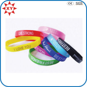 China Wholesale Eco-Friendly Custom Cool Silicone Wristband pictures & photos