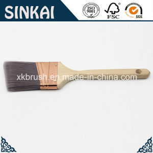 Angled with Wood Sash Handle Brush pictures & photos