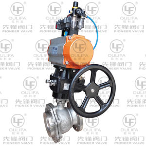 Pneumatic Tank Bottom Ball Valve with Inclined Stem (XGQ641F-150Lb) pictures & photos