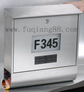 Popular Stainless Steel Solar Mailbox with House Number pictures & photos