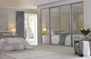 Mirrored Glass Bedroom Wall Wardrobe Design Cheap Wardrobe China pictures & photos