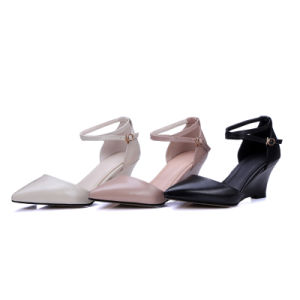 High Wedge-Soled Heel Sharp Toe Women Sandals