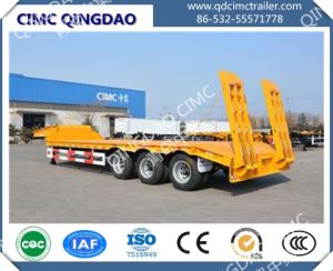 Cimc 3 Axle Low-Bed Lowbed Semi-Trailer Semi-Trailer Semi Trailer Truck Chassis pictures & photos