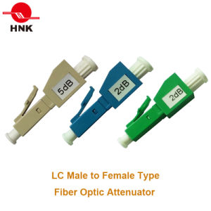 FC/Sc/St/LC/Mu Singlemode Multimode Male to Female Fix Fiber Optic Attenuator pictures & photos