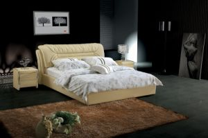 Genuine Leather Bed (SBT-5873) pictures & photos
