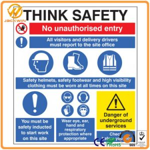 Aluminum or Plastic Reflective Custom Warning Safety Sign with Printing pictures & photos