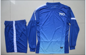 Blue Soccer Jersey Set Blank Version pictures & photos