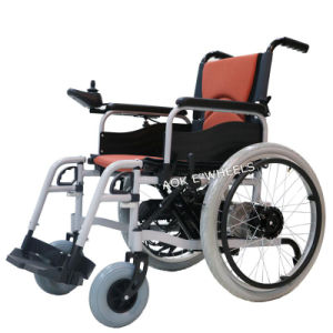Aluminum Frame Mobility Power Wheelchair for Disabled People (PW-001) pictures & photos