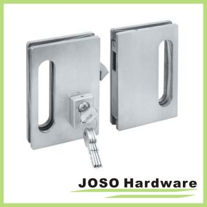 Brush Satin Frameless Glass Door Lock for Double Doors (GDL001B) pictures & photos