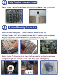 Rattan Patio Sofa Set Rattan Golf Sofa Furniture pictures & photos