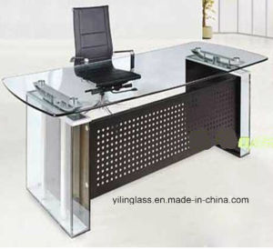 Clear Tempered Office Executive Desk pictures & photos