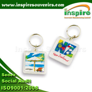 Silk Printed Acrylic Key Ring Promotional Gift pictures & photos