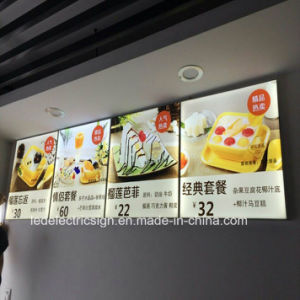 LED Light Box with Restaurant Fast Food Menu Board for Restaurant Equipment pictures & photos