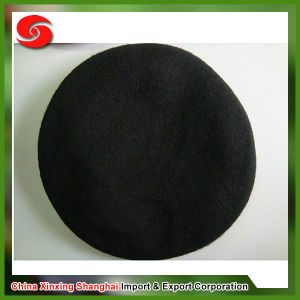 100% Wool Genuine Leather Band Fabric Lining Berets pictures & photos