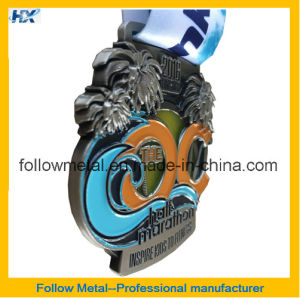 High Quality 3D Hard Enamel Medal for Half Marathon Finisher pictures & photos