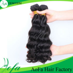 Grade 7A Hair Extension, 100% Unprocessed Human Hair Weft pictures & photos