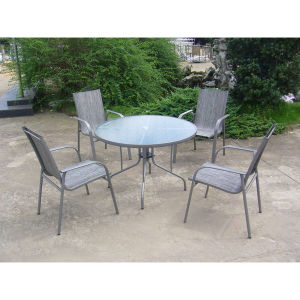 Restaurant Dining Garden Furniture Set Outdoor Round Table and Chair pictures & photos