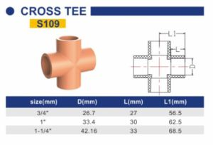 CPVC Fire Sprinkler System Industry Pipe and Fittings Cross Tee S109 pictures & photos