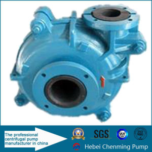 High Temperature Centrifugal Belt Driven Rubber Lined Slurry Water Pump pictures & photos
