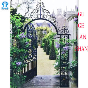 High Quality Crafted Wrought Single Iron Gate 029 pictures & photos