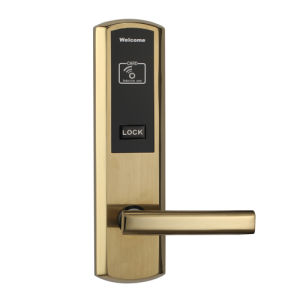 Stainless Steel RF57 Hotel Door Lock in Golden Color and Silver Color pictures & photos
