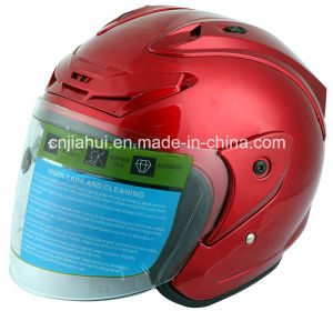 Stm Open Face Motorcycle Helmet with Clear PC Visor