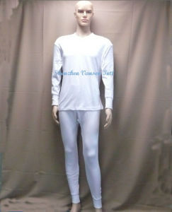 Warm Thermal Underwear in Pure White pictures & photos