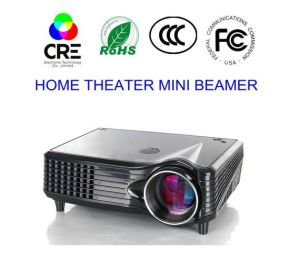 RoHS Certificate Mini Home 1500 Lumens LCD LED Projector pictures & photos