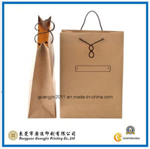 Customized Logo Printing Kraft Paper Shopping Hand Bag (GJ-Bag529) pictures & photos
