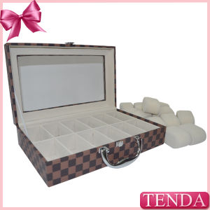 Cardboard Paperboard Chipboard PU Leather Jewelry Storage Case