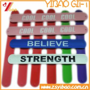Fashionable Customized Silicone Slap Wristband (YB-LY-WR-42) pictures & photos