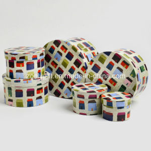 Design Round Shaped Printing Paper Gift Storage Box for Toys pictures & photos