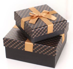 Simple Design Paper Packaging Gift Box with Lid