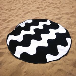 2016 Latest Microfiber Printed Round Beach Towels