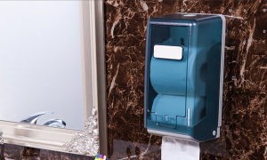 Paper Towel Dispenser of Small Size with Transparent Ink Green pictures & photos