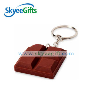 fashion Chocolate Customized Logo PVC Keychain pictures & photos