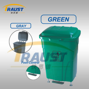 Eco-Friendly Wheel Dustbin/ Foot Pedal Container/ Plastic Dustbin pictures & photos