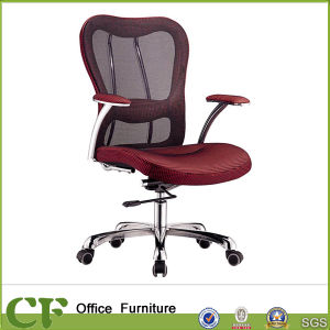 Short Back Ergonomic Swivel Office Mesh Chair for Employees pictures & photos