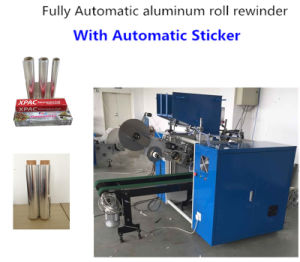 Aluminum Foil Roll Rewinding Machine with Sticker pictures & photos