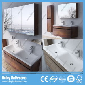 European Style MDF Deluxe Modern Bathroom Set with Two Side Vanities (BF123N) pictures & photos
